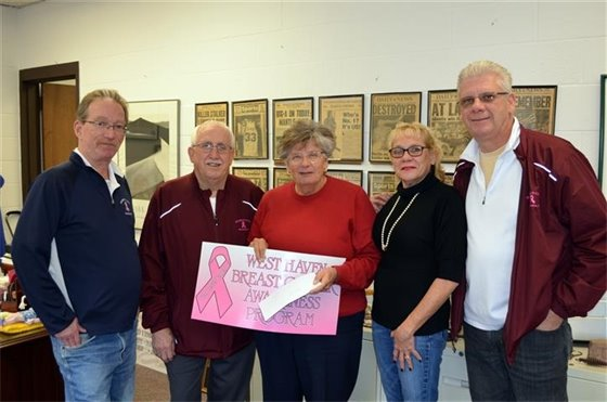 Dubel's Cafe donates $4,600 for breast cancer awareness