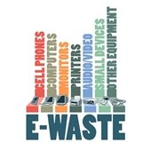 City collecting recyclable electronic items