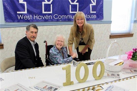 Pat Herbert marks a century