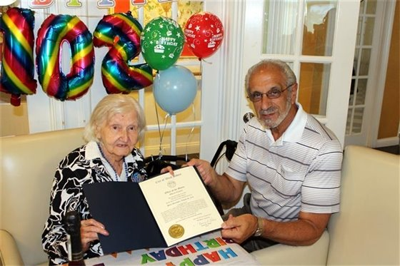 Marseglia celebrates 102nd birthday