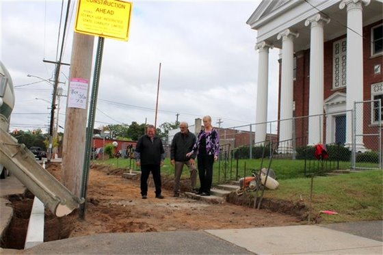 New sidewalks for arts center project