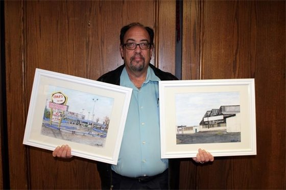 Paintings of former city landmarks donated