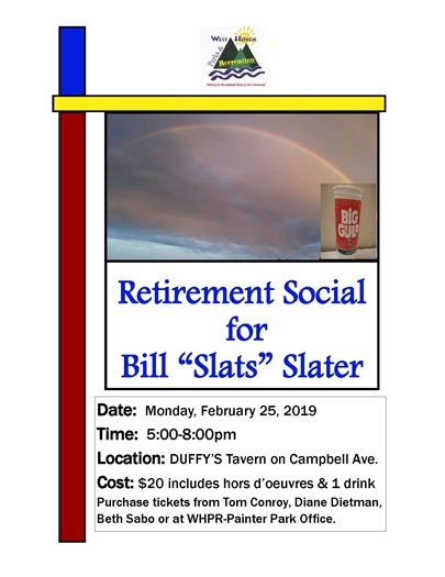 Bill Slater Retirement Flyer