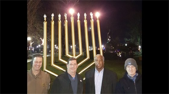 Menorah lighting marks Jewish Festival of Lights
