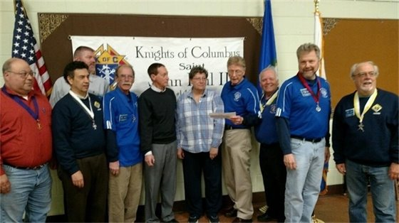 Knights of Columbus raises $750 for special needs program